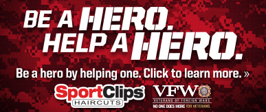 Sport Clips Haircuts of Mt. Pleasant​ Help a Hero Campaign